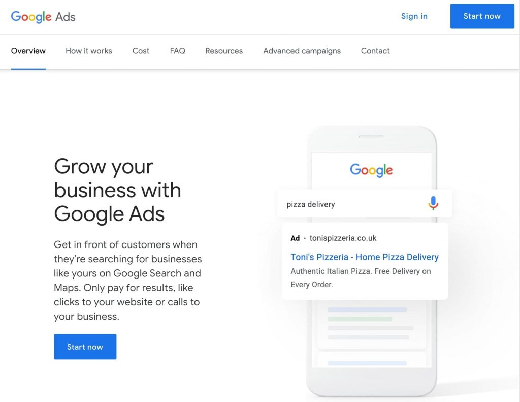 Google Ads sign-in